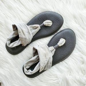 Sanuk Gray Yoga Sling Sandals